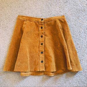 Brandi Melville Corduroy Skater Skirt